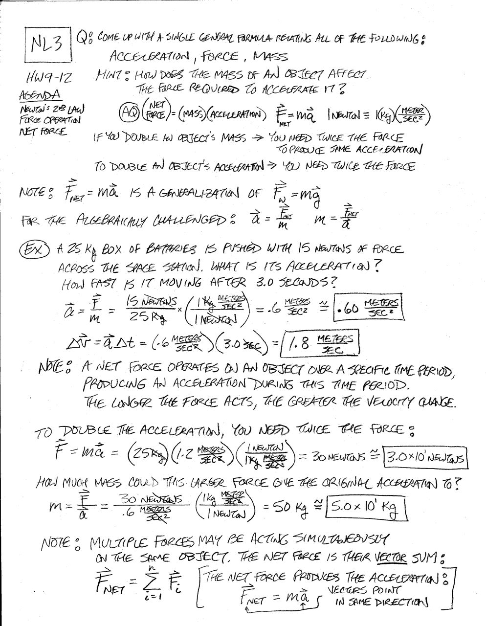 Folders Core Classes – Newtons Laws Worksheet